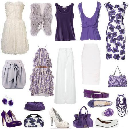 Como combinar tu ropa color blanco tu closet vintage - Combinar color lila ...