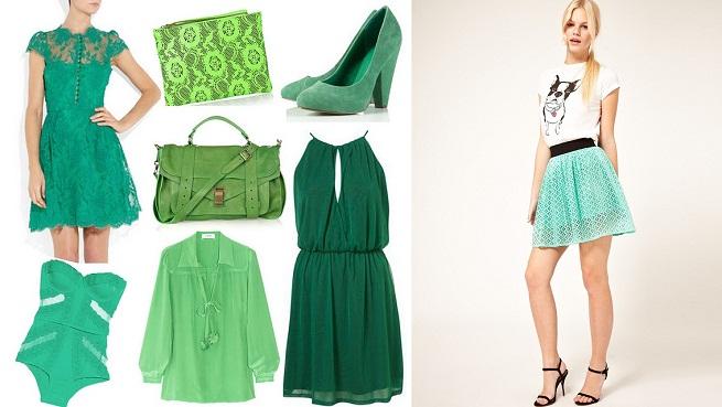 Combinaci n de colores verdes tu closet vintage - Colores que combinan con el verde botella ...